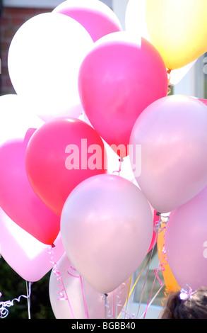 Fotografia di palloncini sunshine summer party per bambini compleanno Immagini Stock