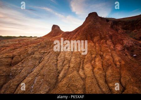 Il paesaggio del deserto in Sarigua National Park, Herrera provincia, Repubblica di Panama. © Øyvind Martinsen Immagini Stock