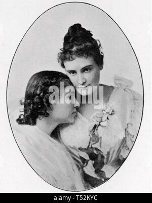 HELEN Keller (1880-1968) American sordo-ciechi autore con la sua vita-helper lungo Anne Sullivan Immagini Stock