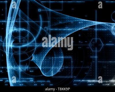 Abstract sfondo con tecnologia design Immagini Stock