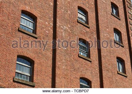 Finestra Dettagli. Magazzino di Londra, Manchester, Regno Unito. Architetto: Archer Humphreys architetti, 2018. Immagini Stock