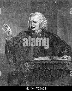 CHARLES WESLEY (1707-1788) inglese leader metodisti e inno compositore Immagini Stock
