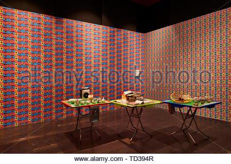 Installazione da parte di noi-design/ labirinto Progetto per Hong Kong. London Design Biennale 2018, Londra, Regno Unito. Architetto: Vari , 2019. Immagini Stock