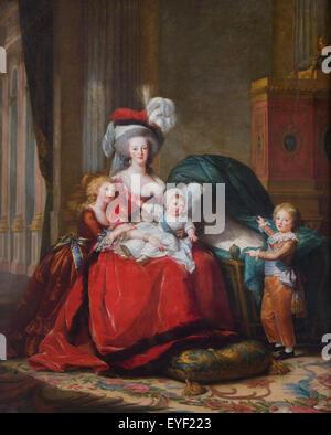 La regina Maria Antonietta e i suoi bambini 10/12/2013 - XIX secolo collezione Immagini Stock