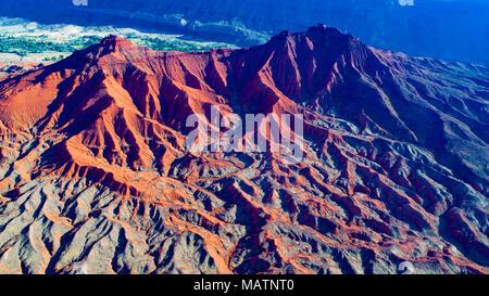 Pezzati Badlands, il Fiume Colorado, Utah, Ndear Moab Immagini Stock