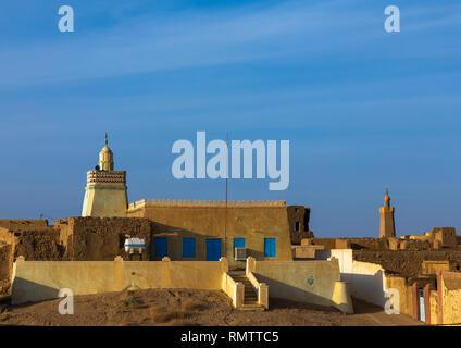 Vista del paese, stato settentrionale, Al-Khandaq, Sudan Immagini Stock