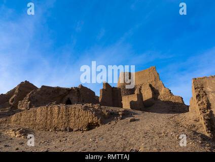 Vecchia fortezza ottomana, Stato settentrionale, Al-Khandaq, Sudan Immagini Stock