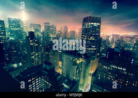 Epic New York Cityscape Immagini Stock