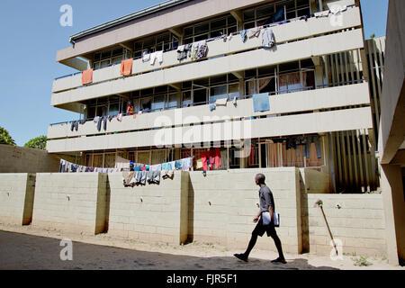 Case dello Studente presso l'Università dello Zambia (Lusaka). Immagini Stock