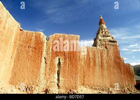 In Zanda County,Tibet occidentale,Tholing tempio è un undicesimo secolo nel monastero di Ngari, costruito dal Immagini Stock