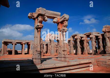 Incompiuta kalyana mantapa, lepakshi, Andhra Pradesh in India, Asia Immagini Stock