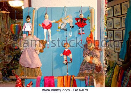 Un negozio a Mykonos in Grecia Immagini Stock