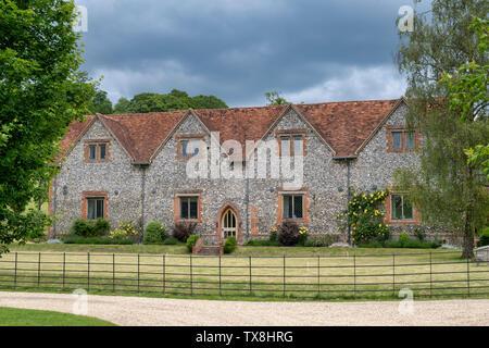Pietra Focaia House di motivi di Stonor park, Oxfordshire, Inghilterra Immagini Stock