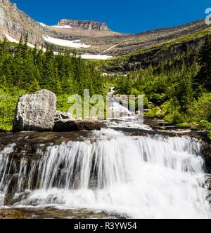 Il Parco Nazionale di Glacier, Montana. Il pranzo Creek Immagini Stock