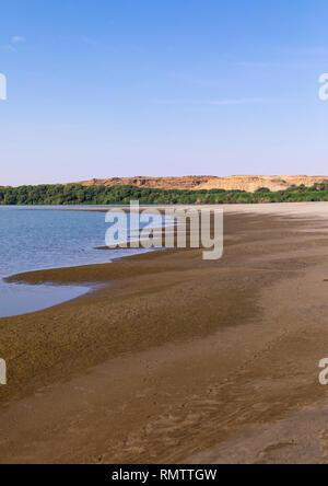 Banca del fiume Nilo, Stato settentrionale, El-Kurru, Sudan Immagini Stock