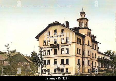 Edifici termali in Germania, edifici in Grafing bei München 1904, Oberölkofen, Reconvaleszentenheim Immagini Stock