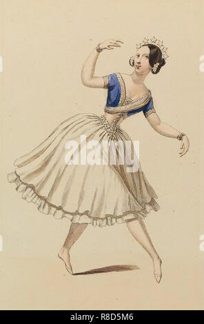 Carlotta Grisi (1819-1899) nel balletto La Péri di Friedrich BurgmüIler, 1843. Collezione privata. Immagini Stock
