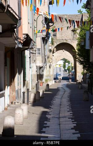 Mirepoix, Ariège, Pirenei, Francia Immagini Stock