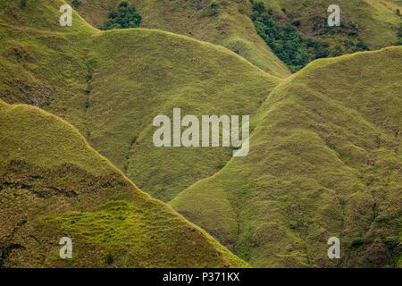 Formazioni del Cerros los Picachos de Ola montagne, Cocle Affitto provincia, Repubblica di Panama. Immagini Stock