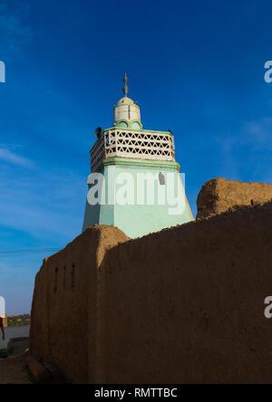 Al-Khatibiya minareto della moschea, Stato settentrionale, Al-Khandaq, Sudan Immagini Stock
