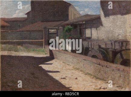 Vecchio mulino a Volpedo, 1903. Collezione privata. Immagini Stock
