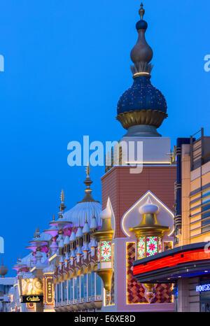 Stati Uniti d'America,New Jersey,Atlantic City, Taj Mahal casino esterno Immagini Stock