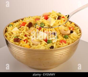 INDIAN BIRYANI riso vegetariano Immagini Stock