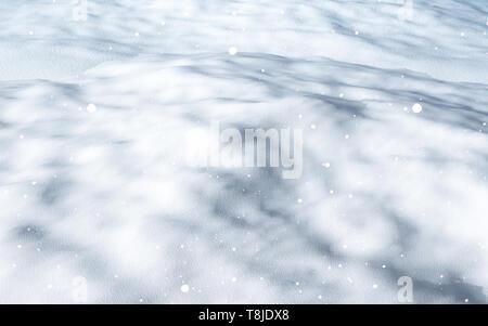 3D render di neve close up Immagini Stock