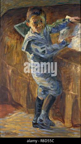 Ritratto di un ragazzo, 1908-1909. Collezione privata. Immagini Stock