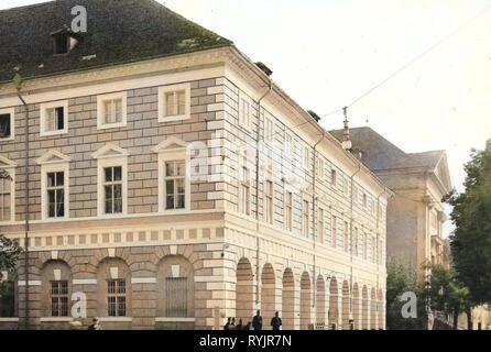 Edifici a Terezín, 1911, Ústí nad Labem Regione, Theresienstadt, Repubblica Ceca Immagini Stock