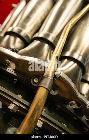 Vintage motore aeronautico closeup Immagini Stock
