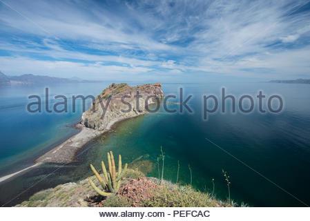 Isla Danzante o i ballerini Isola, parte di Loreto Bay National Park. Immagini Stock
