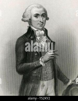 FRANÇOIS LÉONARD BUZOT (1760-1794) francese leader rivoluzionario Immagini Stock