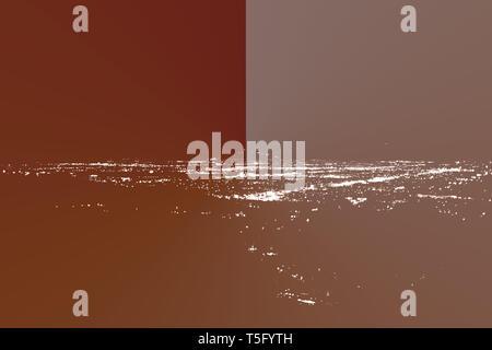 Le luci di Los Angeles durante la notte. Immagini Stock