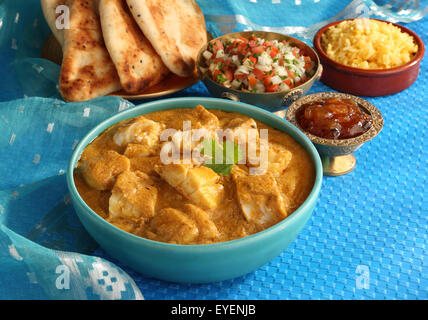 BENGALI pesce al curry indiano Immagini Stock