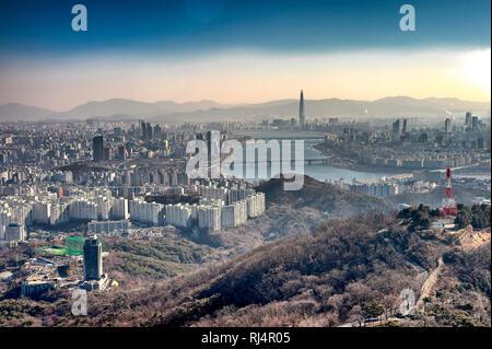 Seoul, Corea del Sud. Vista dalla Torre di Seoul. Immagini Stock