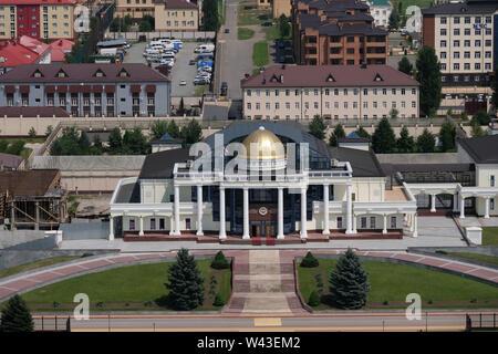 La residenza del presidente della Repubblica di Inguscezia nel centro di Magas la città capitale della Repubblica di Inguscezia nel Nord Caucaso Distretto federale della Russia. Immagini Stock