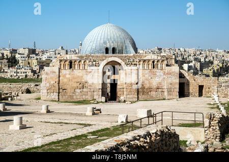 Umayyad Palace il Citadel Hill, Amman, Giordania Immagini Stock