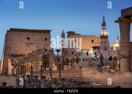 Antica Chiesa in tempio di Luxor Luxor Egitto Immagini Stock