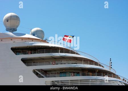 Elegante,graphic design della proprietà Italiana,luxury cruiseship ,Silver Spirit Immagini Stock