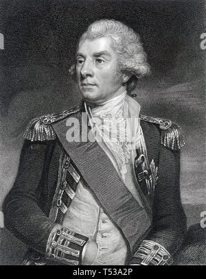 GEORGE ELPHINSTONE, primo Visconte Keith (1746-1823) Royal Navy Admiral Immagini Stock