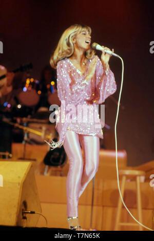 OLIVIA NEWTON-JOHN English-Australian cantante e attrice cinematografica nel 1978 Immagini Stock