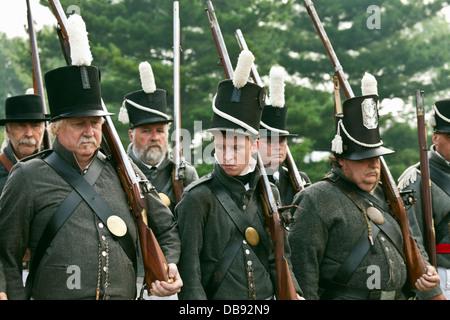 Canada,Ontario,Stoney Creek. Casa del campo di battaglia, Battaglia di Stoney Creek la Guerra 1812 rievocazione Immagini Stock