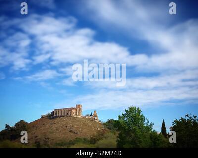 Il castello di Aracena, Huelva, Andalusia Immagini Stock