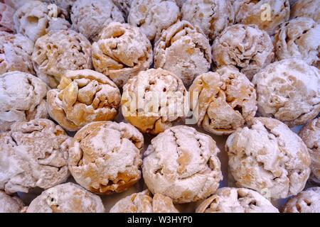 Snowballs, specialità locali, dolci, pasticcini, Rothenburg ob der Tauber, Media Franconia, Franconia, Baviera, Germania Immagini Stock