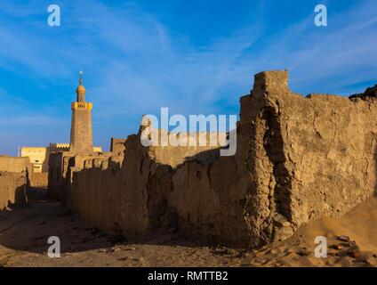 La moschea Al-Hassanab, Stato settentrionale, Al-Khandaq, Sudan Immagini Stock