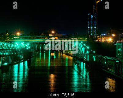 Paesaggio urbano di notte, Teheran, Iran Immagini Stock