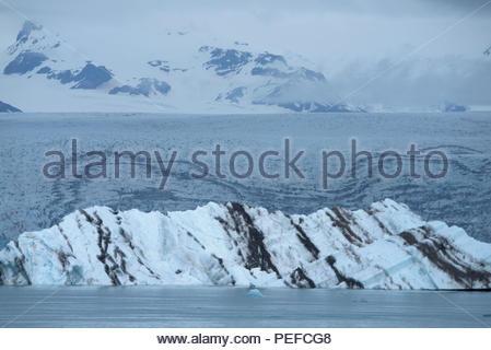 Vatnajokull, Islanda il più grande ghiacciaio in Islanda, copertura 8 per cento dell'isola. Immagini Stock