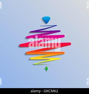 Moderni colori whirligig, su un sfondo astratto. Fast whirlabout. Luminosa di PEG-top. Illustrazione Vettoriale. Immagini Stock