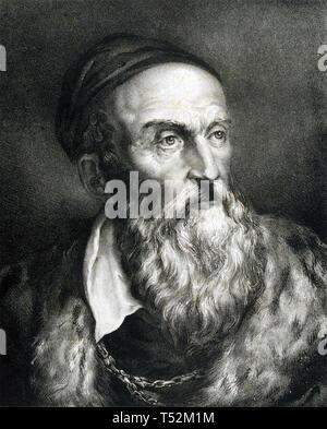 Tiziano (c) 1489-1576 pittore italiano circa 1567 Immagini Stock